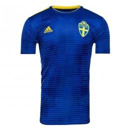 پیراهن دوم تیم ملی سوئد ویژه جام جهانی Sweden 2018 World Cup Away Soccer Jersey