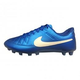 کفش فوتبال بچه گانه نایک تمپو طرح اصلی آبی Nike Tiempo