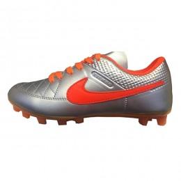 کفش فوتبال بچه گانه نایک تمپو طرح اصلی طوسی Nike Tiempo