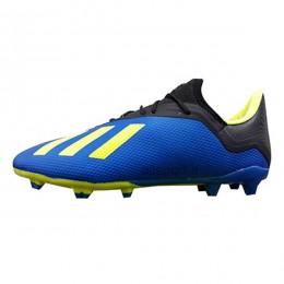 کفش فوتبال آدیداس ایکس طرح اصلی آبی زرد Adidas X