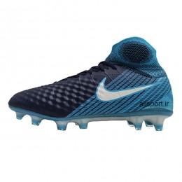 کفش فوتبال نایک مجیستا طرح اصلی آبی مشکی Nike Magista