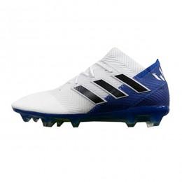 کفش فوتبال آدیداس نمزیز طرح اصلی سفید آبی Adidas Nemeziz