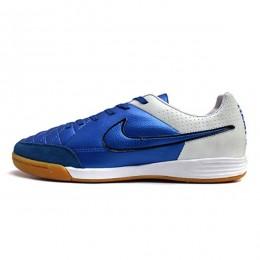 کفش فوتسال نایک تمپو طرح اصلی آبی سفید Nike Tiempo