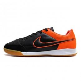 کفش فوتسال نایک تمپو طرح اصلی مشکی نارنجی Nike Tiempo