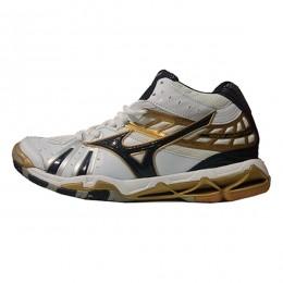 کفش والیبال میزانو طرح اصلی سفید طلایی Mizuno