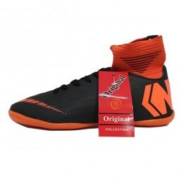 کفش فوتسال سایز کوچک نایک مرکوریال مشکی نارنجی Nike Mercurial