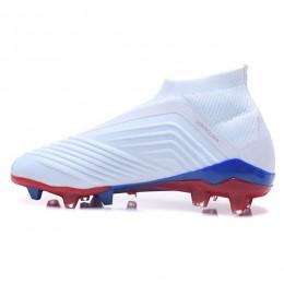 کفش فوتبال آدیداس پردیتور طرح اصلی سفید قرمز Adidas Predator Telstar 18+ FG White Silver Red
