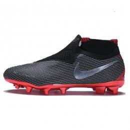 کفش فوتبال نایک جردن طرح اصلی مشکی Nike X Jordan X PSG Phantom Vision Elite DF FG Black White Red