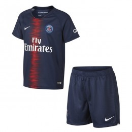 پیراهن شورت اول پاریسن ژرمن Paris Saint Germain 2018-19 Home Soccer Jersey Kit Shirt+Short