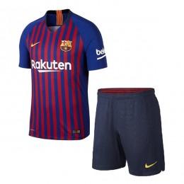 پیراهن شورت اول بارسلونا Barcelona 2018-19 Home Soccer Jersey Kit Shirt+Short