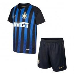 پیراهن شورت اول اینترمیلان Inter Milan 2018-19 Home Soccer Jersey Kit Shirt+Short