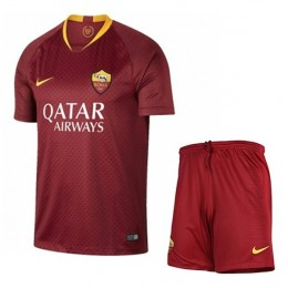 پیراهن شورت اول رم As Roma 2018-19 Home Soccer Jersey Kit Shirt+Short