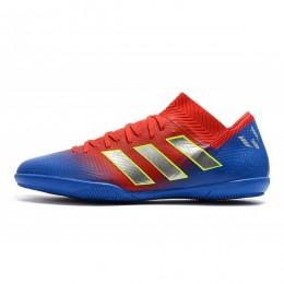 کفش فوتسال آدیداس نمزیز طرح اصلی قرمز ابی Adidas Nemeziz Messi Tango
