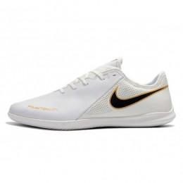 کفش فوتسال نایک فانتوم طرح اصلی سفید طلایی Nike Phanton VSN WhiteBlack