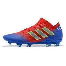 کفش فوتبال آدیداس مسی طرح اصلی Adidas Nemeziz FG Red Blue Silver