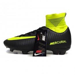 کفش فوتبال نایک مرکوریال ساقدار طرح اصلی مشکی فسفری Nike Mercurial 2018