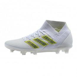 کفش فوتبال آدیداس نمزیز طرح اصلی سفید Adidas Nemeziz 18.1 FG White