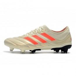 کفش فوتبال آدیداس کوپا طرح اصلی سفید قرمز Adidas Copa 19.1 FG White Red Core Black