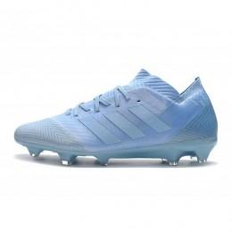 کفش فوتبال آدیداس نمزیز طرح اصلی ابی Adidas Nemeziz Messi 18.1 FG Ash Blue