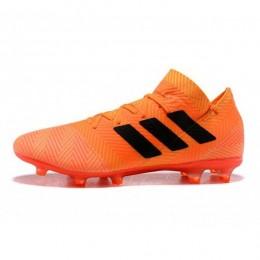 کفش فوتبال آدیداس نمزیز طرح اصلی نارنجی مشکی Adidas Nemeziz 18.1 FG Orange Black