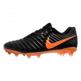 کفش فوتبال نایک تمپو طرح اصلی مشکی نارنجی Nike Tiempo VII FG Black Orange
