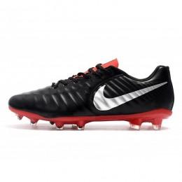 کفش فوتبال نایک تمپو طرح اصلی مشکی قرمز Nike Tiempo Legend VII FG Black