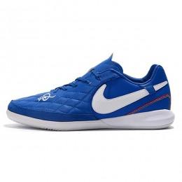 کفش فوتسال نایک تمپو لونار لجند طرح اصلی آبی سفید Nike Tiempo Lunar Legend VII Pro IC Blue White