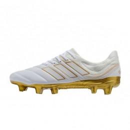 کفش فوتبال آدیداس کوپا طرح اصلی سفید طلایی Adidas Copa 19.1 FG White Gold