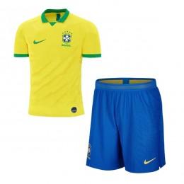 پیراهن شورت اول برزیل Brasil 2019-20 Home Soccer Jersey Kit Shirt+Short