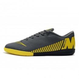 کفش فوتسال نایک مرکوریال طرح اصلی Nike Mercurial Vapor XII Academy IC Dark GreyBlackYellow