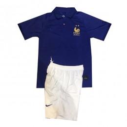 پیراهن شورت اول فرانسه France 2019-20 Home Soccer Jersey Kit Shirt+Short