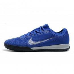 کفش فوتسال نایک مرکوریال طرح اصلی ابی Nike Mercurial Vapor Frenzy XII Pro IC Blue Metallic Silver Black