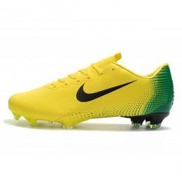 کفش فوتبال نایک مرکوریال طرح اصلی زرد سبز Nike Mercurial Vapor XII PRO FG Yellow Black Green