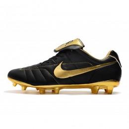 کفش فوتبال نایک تمپو لجند طرح اصلی Nike Tiempo Legend VII R10 Elite FG Black Gold
