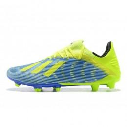 کفش فوتبال آدیداس ایکس طرح اصلی ابی زرد Adidas X 19.3 FG Blue Yellow