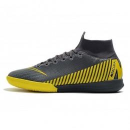 کفش فوتسال نایک مرکوریال طرح اصلی قهوه ای مشکی Nike Mercurial SuperflyX Grey Black Dark Grey