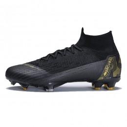کفش فوتبال نایک مرکوریال سوپرفلای طرح اصلی مشکی طلایی Nike Mercurial Superfly VI 360 Elite FG Black Gold