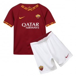 پیراهن شورت بچگانه اول رم As Roma 2019-20 Home Soccer Jersey Kids Shirt+Short