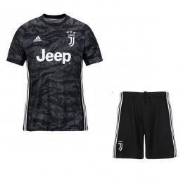 پیراهن شورت بچگانه دروازه بانی یوونتوس Juventus 2019-20 Goalkeeper Soccer Jersey Kids Shirt + Shorts