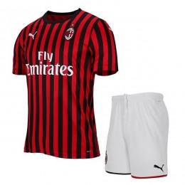 پیراهن شورت بچگانه اول میلان Ac Milan 2019-20 Home Soccer Jersey Kids Shirt+Short