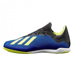کفش فوتسال آدیداس ایکس طرح اصلی آبی زرد Adidas X Tango 18.3 IN Blue Solar Yellow