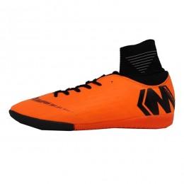 کفش فوتسال ساقدار نایک مرکوریال طرح اصلی نارنجی مشکی Nike Mercurial 2019