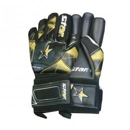دستکش دروازه بانی استار طرح اصلی مشکی طلایی Star Goalkeeper Gloves