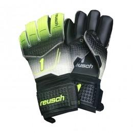 دستکش دروازه بانی راش طرح اصلی مشکی سبز Reusch 1 Goalkeeper Gloves
