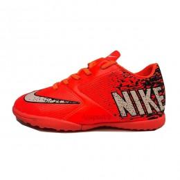 کفش چمن مصنوعی سایز کوچک نایک نارنجی مشکی Nike