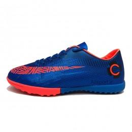 کفش چمن مصنوعی سایز کوچک نایک مرکوریال آبی نارنجی Nike Mercurial 2018
