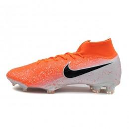 کفش فوتبال نایک مرکوریال سوپرفلای ساقدار طرح اصلی نارنجی سفید Nike Mercurial Superfly VI 360 Elite FG White Orange