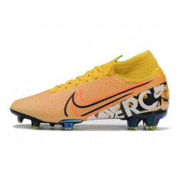 کفش فوتبال نایک مرکوریال سوپرفلای ساقدار طرح اصلی زرد نارنجی Nike Mercurial Superfly VII Elite FG Orange Yellow Black