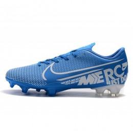 کفش فوتبال نایک مرکوریال طرح اصلی ابی سفید Nike Mercurial Vapor XIII PRO FG Blue White