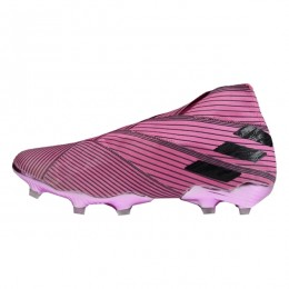کفش فوتبال آدیداس نمزیز طرح اصلی صورتی مشکی Adidas Nemeziz 19+ FG Pink Core Black